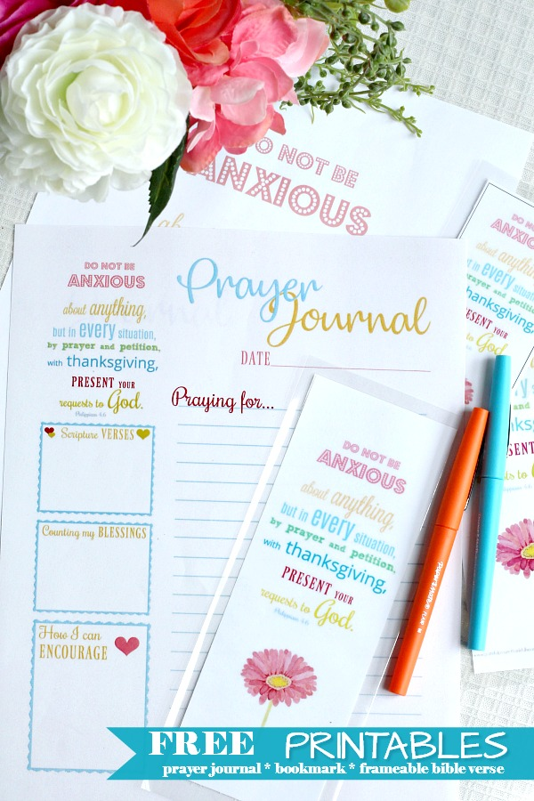 Prayer Journal Printable Grateful Prayer Thankful Heart