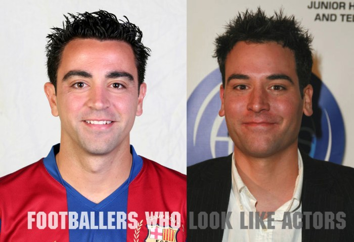 Spain legend Xavi and Josh Radnor