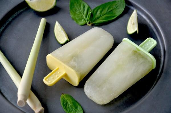lemon lime lemongrass popsicles
