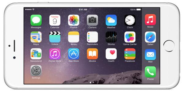iPhone 6 Plus landscape view
