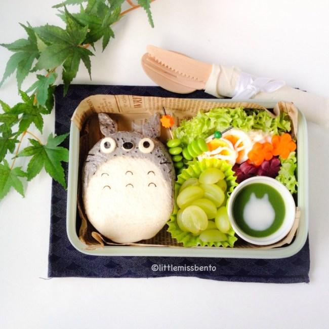little ms bento Totoro Sandwich