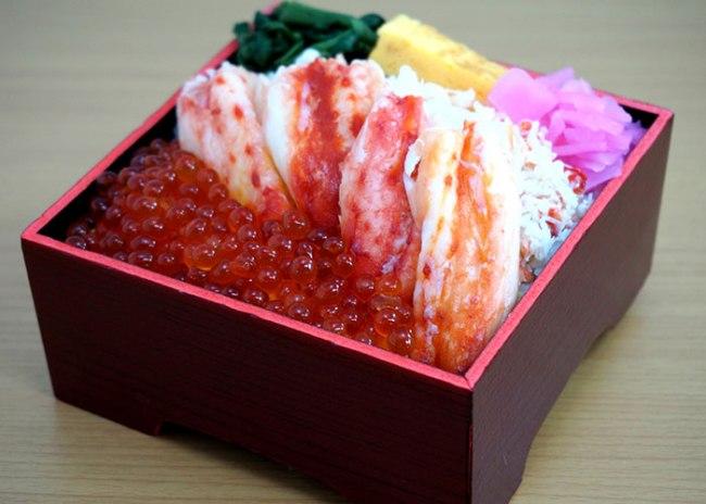 Premium Kani Bento with Salmon Roe from Rakuten Japan gourmet festival