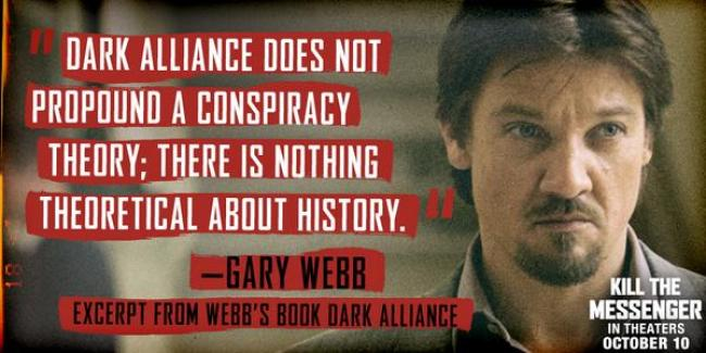 Words from Renner's character, Gary Webb