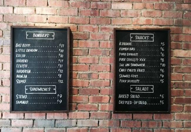 dojo-menu-board