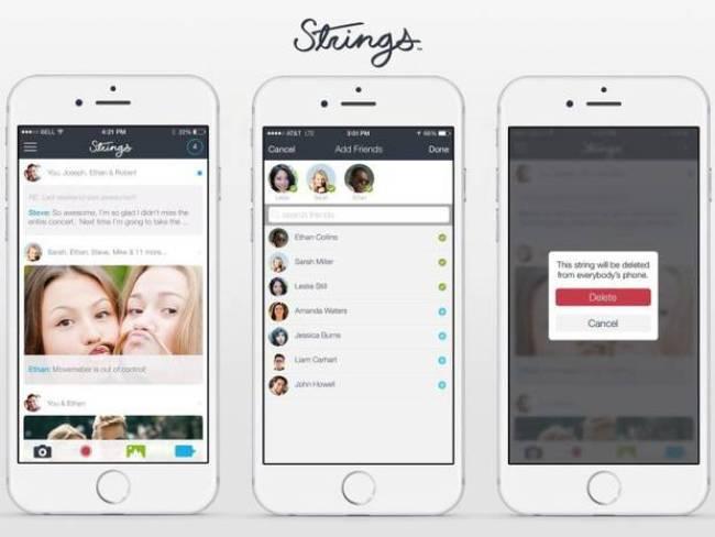 strings messaging app