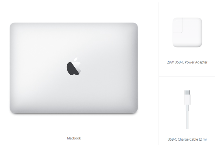 This is what the new 12 inch MacBook package includes.
