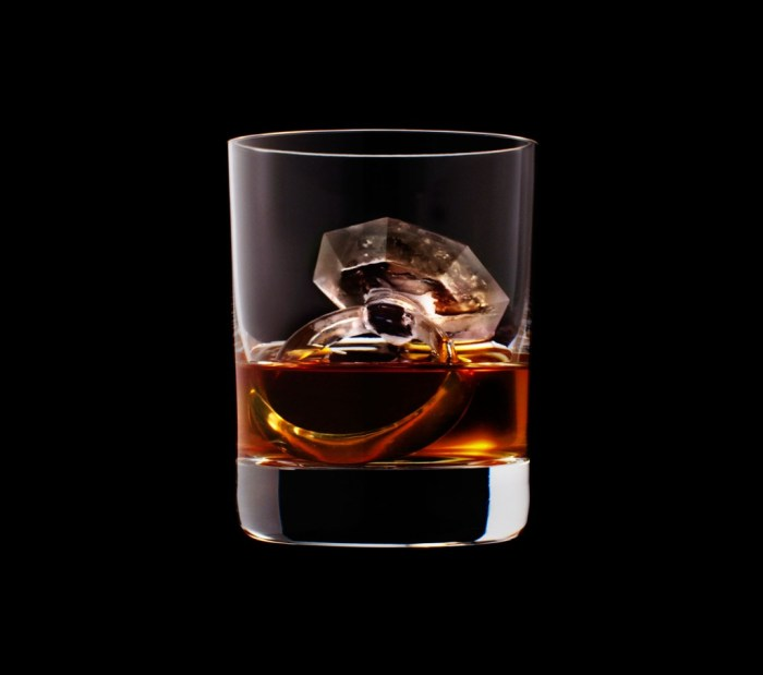 Suntory whisky ice cubes