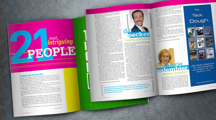 min magazine design and layout Gratzer Graphics LLC