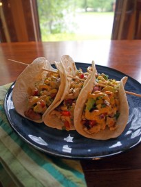 Chicken Tacos with Grilled Corn & Avocado Salsa – Gravel ...