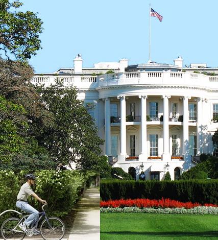 Obama biking