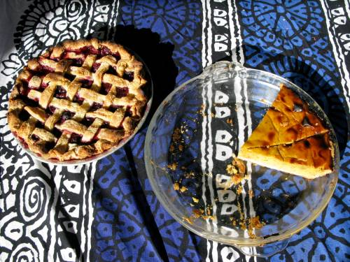 mixed berry and pumpkin pie