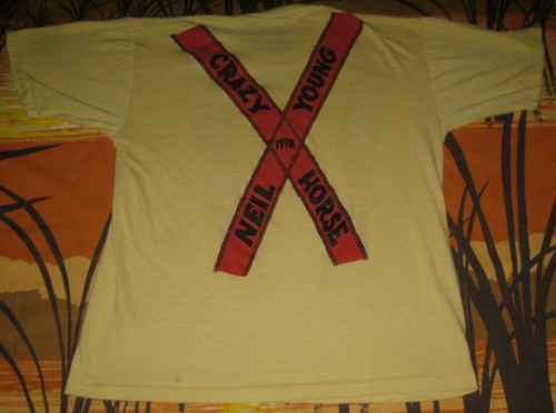 Neil Young shirt- back