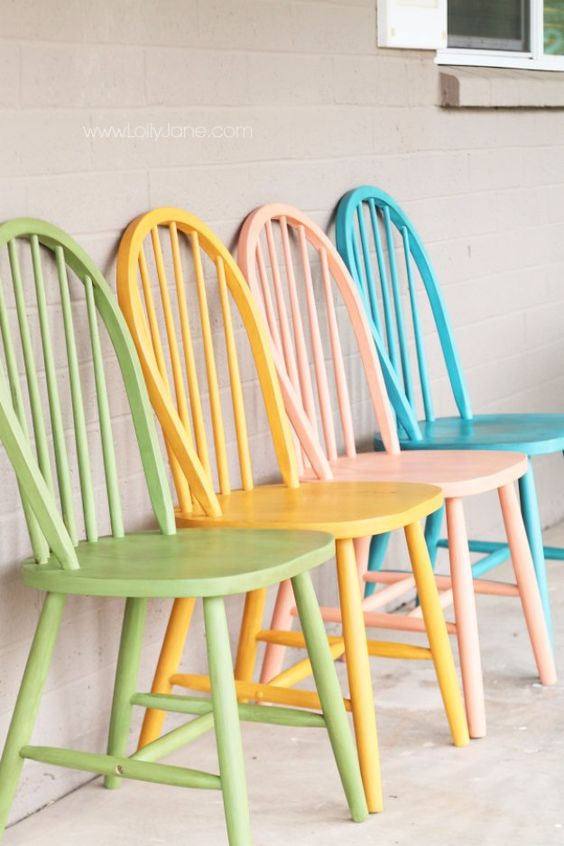 Diy Shabby Chic 40 Vibrant Diy Painted Chair Design Ideas