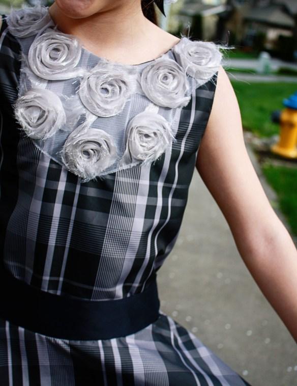 S. B&W Plaid dress bodice