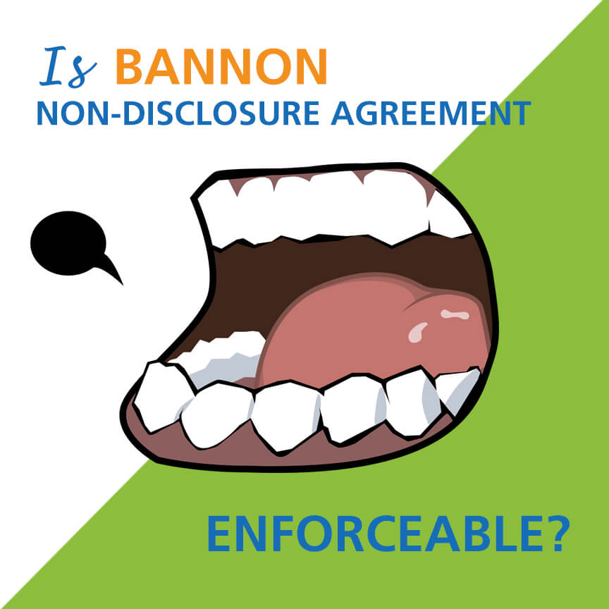 IS BANNON NON-DISCLOSURE AGREEMENT ENFORCEABLE? - Graydon Law - non disclosure agreement