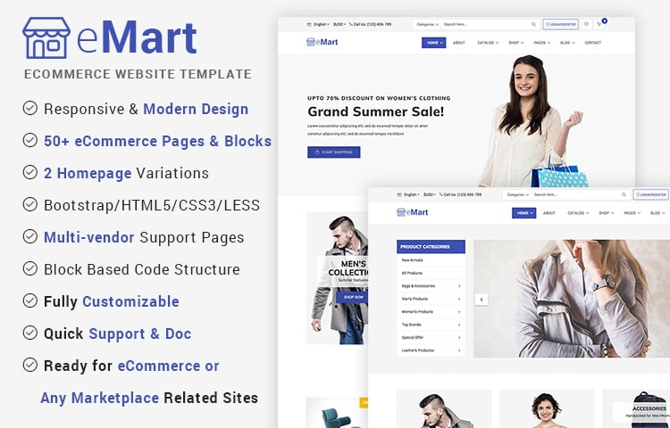 eMart - Free eCommerce Marketplace Website Template