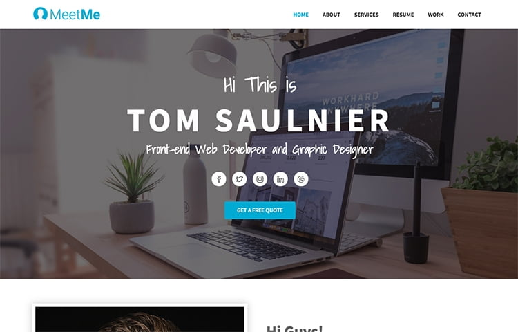 cv website template free download