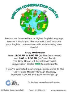 English Conversation Circle Flyer