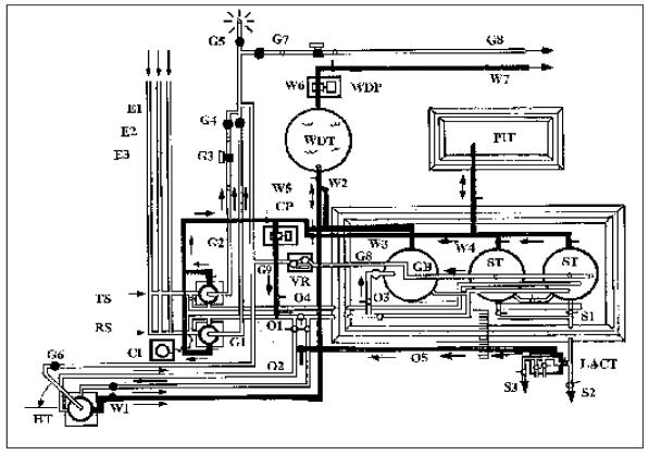 oil heater treater diagram