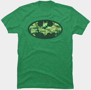 Camouflage Batman Logo T-Shirt