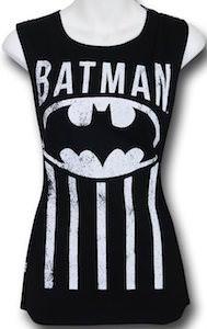 Black Open Back Women's Batman Tank Top