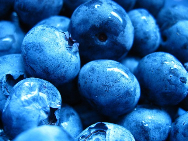 Blueberries are vitamin C-rich and beneficial for skin health
