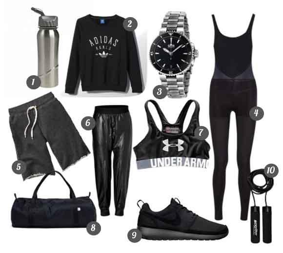 October Wishlist All Black Workout Wear