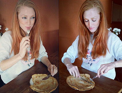 high protein coconut pancake