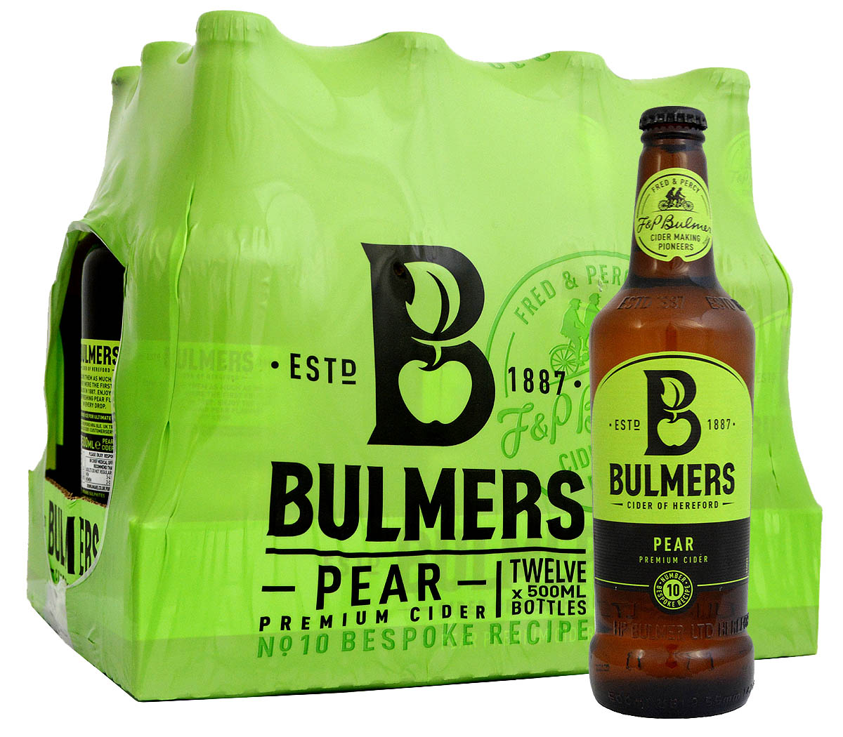 Cider Getränk Bulmers Pear Cider Bottle Pack 12 X 500ml