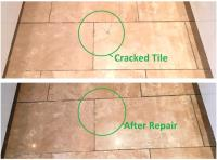 Cracked Travertine Tiled Kitchen Floor Maintained in ...