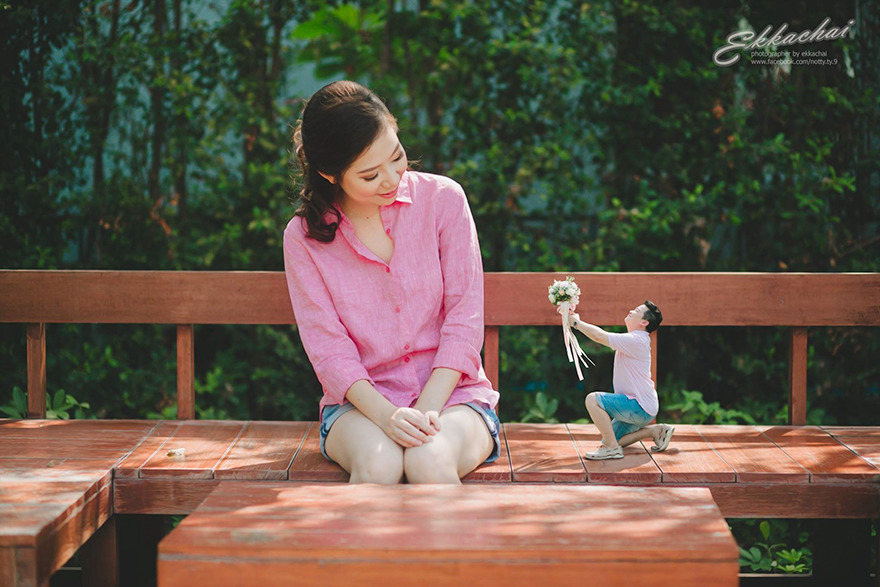 Sweet Cute Wallpapers Clever Wedding Photographer Turns Couples Into Miniature