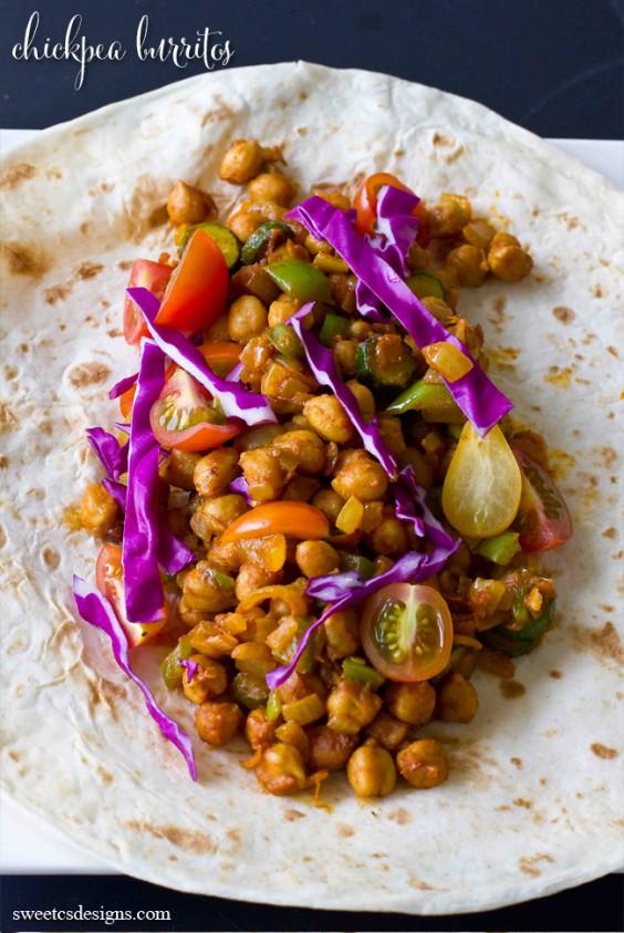 8. Vegan Chickpea Burritos