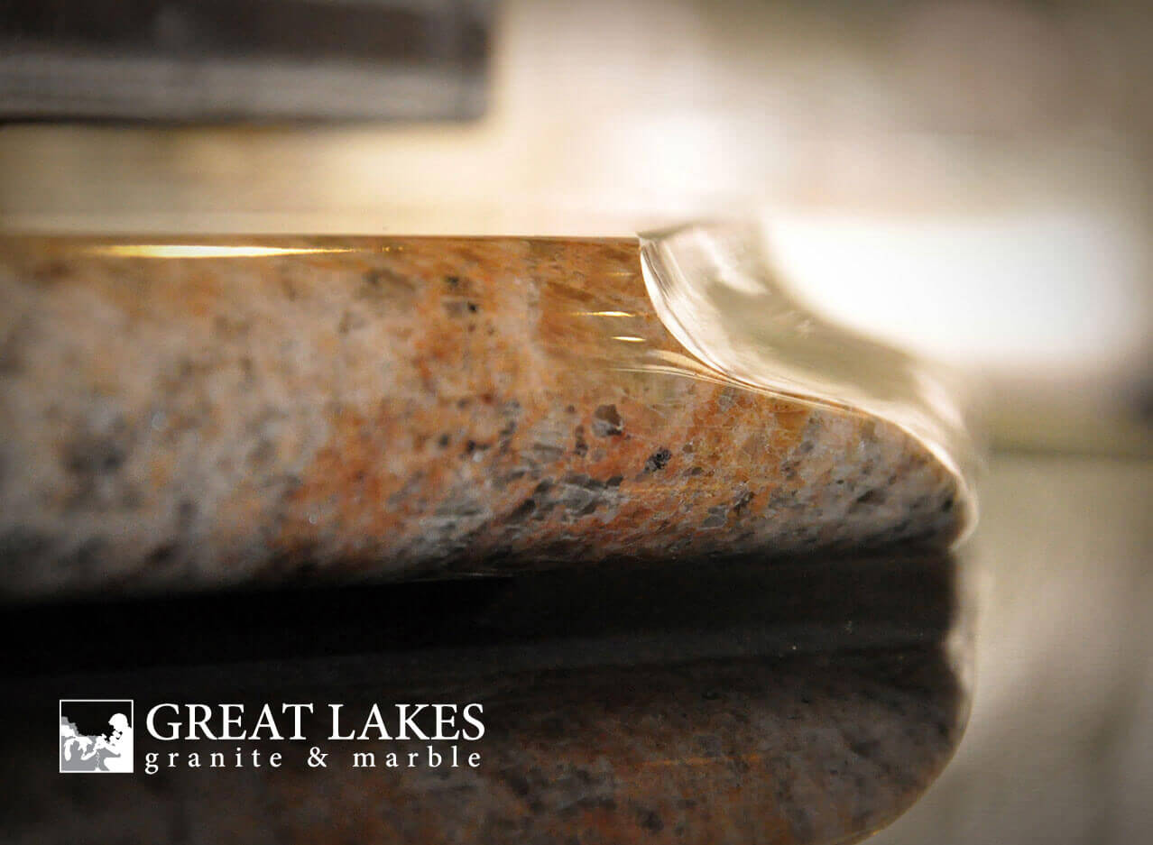 Countertop Comparisons Choosing An Edge For Your Kitchen Countertop Great Lakes Granite