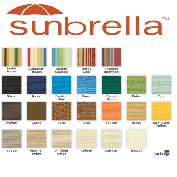 Lowes Awnings Sunbrella Fabric & Canvas | Great Lakes Skipper