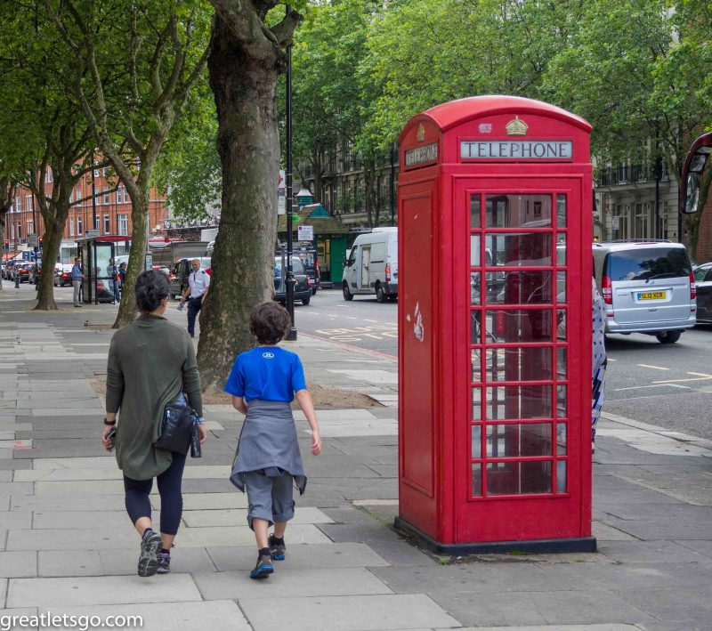 Can't leave London without a phone booth photo!