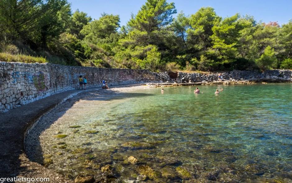 Our beach in Stari Grad, Croatia