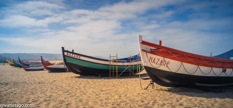 Traditional Nazare Boats