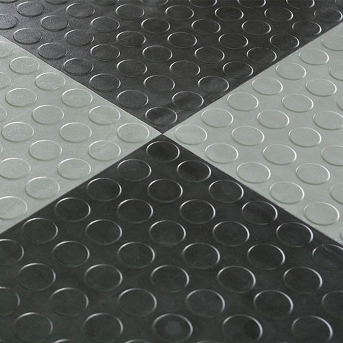 Bodenbelag Kunststoff Garage Floor Tile - Hiddenlock Coin Black Tiles