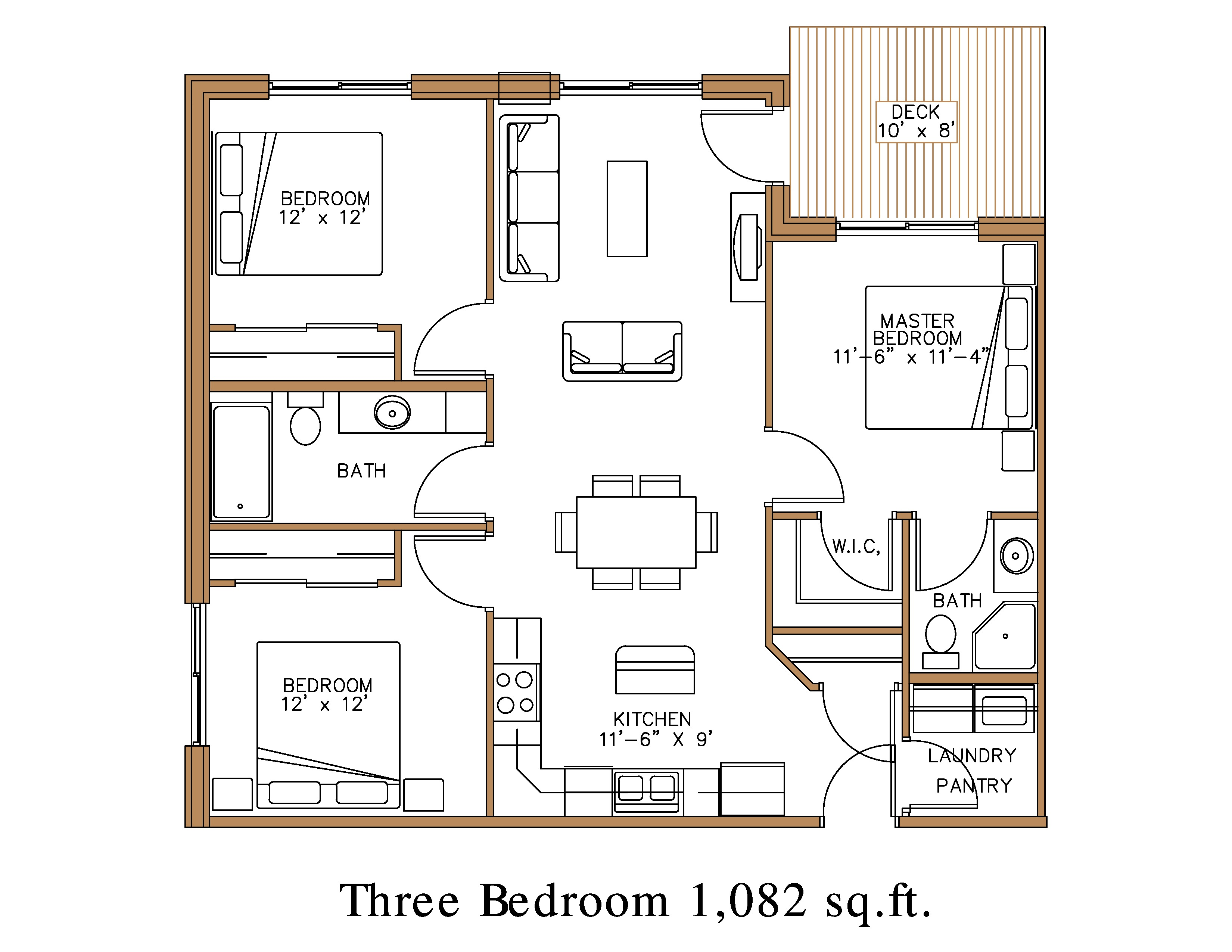 3 Bedroom Apartment Floorplan Floor Plan At Northview Apartment Homes In Detroit Lakes Great