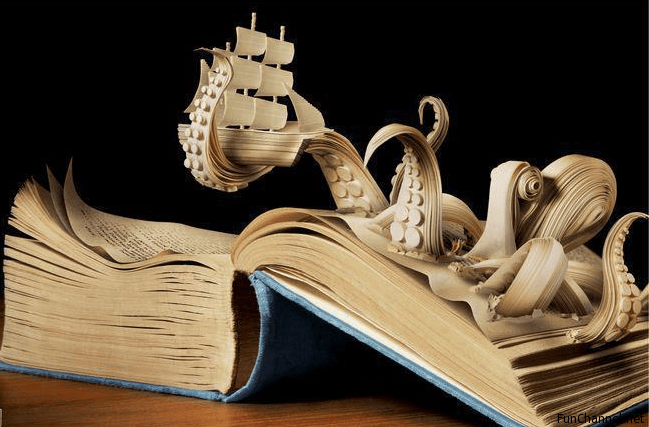 types of books with pictures: book art example