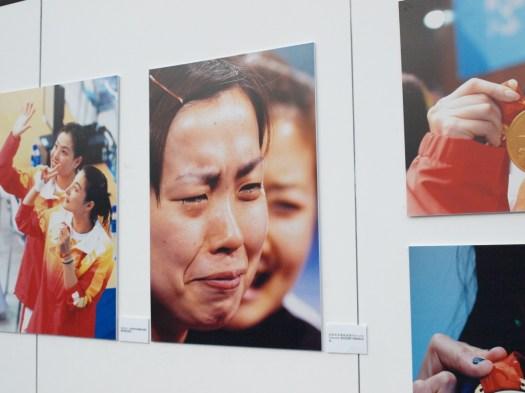 北京オリンピックの写真が展示されていました