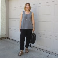 Outfit // Everlane Silk Tank