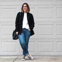 Outfit | Everlane Slouchy Knit Cardigan