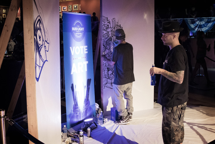 Artists working during the Denver Bud Light Party 2016