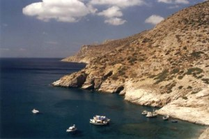Mourou beach in Amorgos