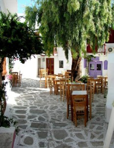 alley in Paroikia in Paros