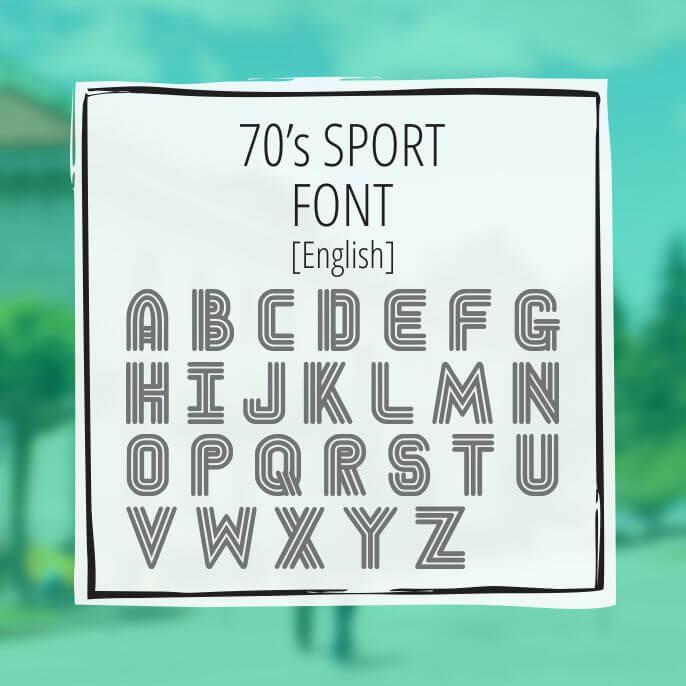 70\u0027s Solid Font - GreekHouse of Fonts