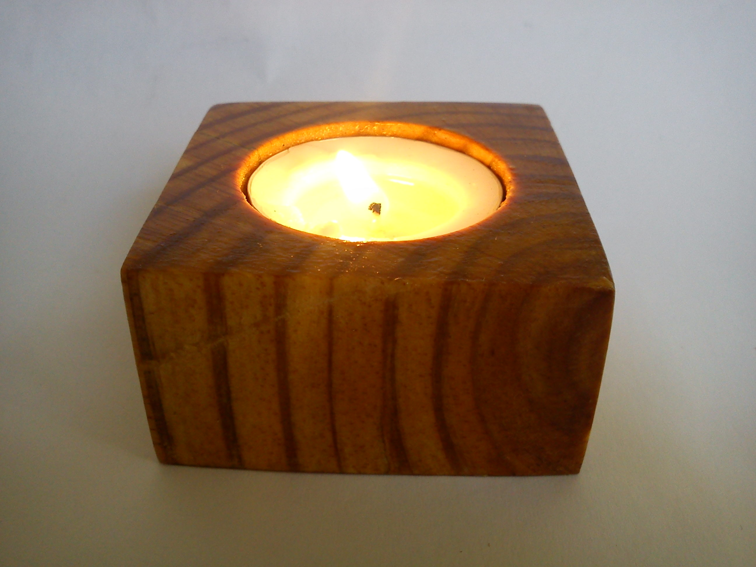 Tealight Lamp Greekproducts24 Tea Light Candle Holder From Pinewood