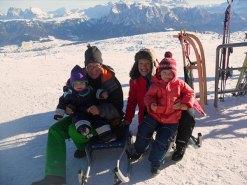 Rodeln am Rittner Horn in Südtirol, ein Spass für die ganze Familie