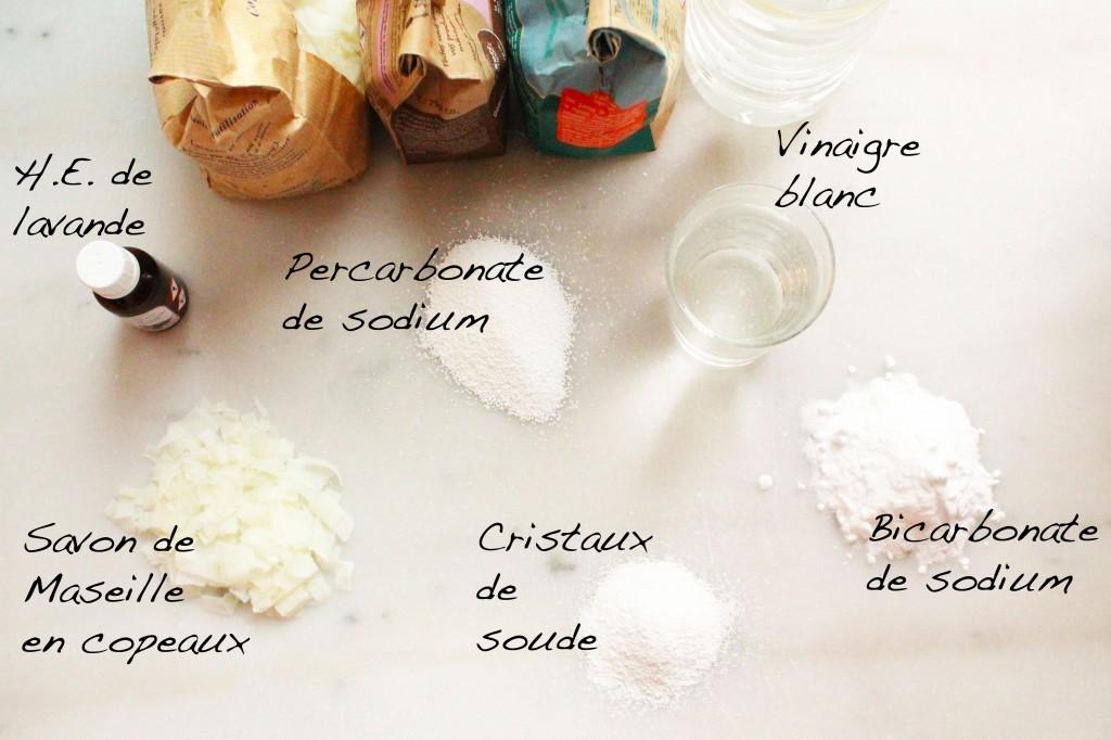 Lessive cologique savon marseille astuces lavage green - Cristaux de soude et vinaigre ...